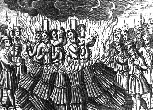 Burning Heretics at the stake